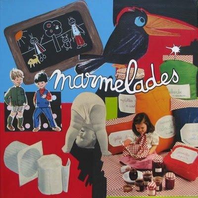 """>Peinture / collages """"Marmelades"""", création Pascale Novara"""
