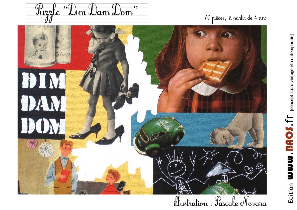 """>L'idée cadeau : le puzzle """"Dim Dam Dom"""" 25 euros"""