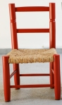 chaise-paille-rouge