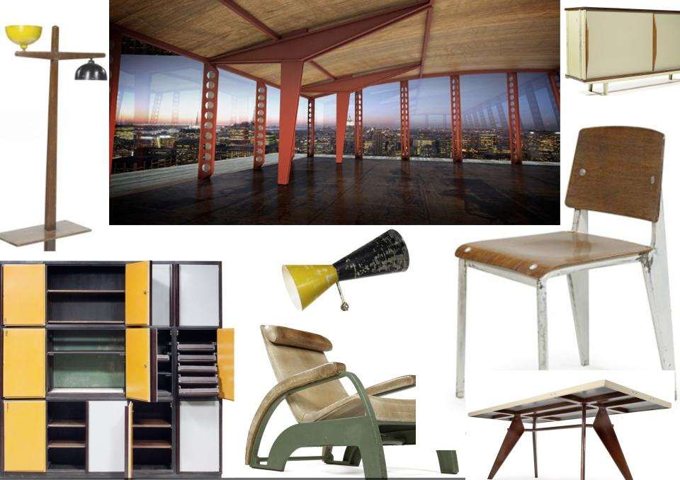 fly jean prouve. Black Bedroom Furniture Sets. Home Design Ideas