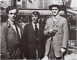 Modigliani,_Picasso_and_André_Salmon